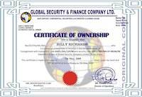 Certificate of Ownership of Gold is a FAKE certificate!